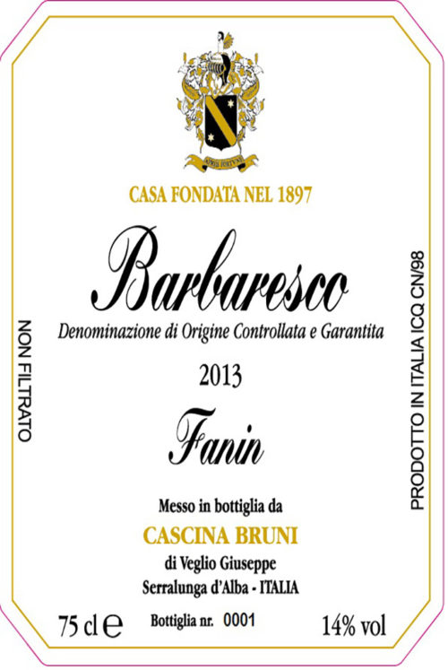 barbaresco fanin 2013 cascina bruni greenflash wijn wijnimport piemonte wijnleverancier