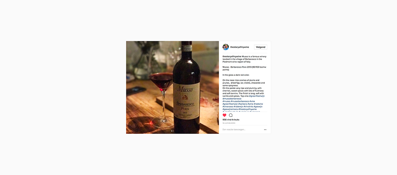 Greenflash Wijn Piemonte wijnimport wijnhandel wijnimporteur Barbaresco Pora Musso media items artikelen